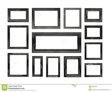 cornici nere cornici nere illustrazione di stock immagine di