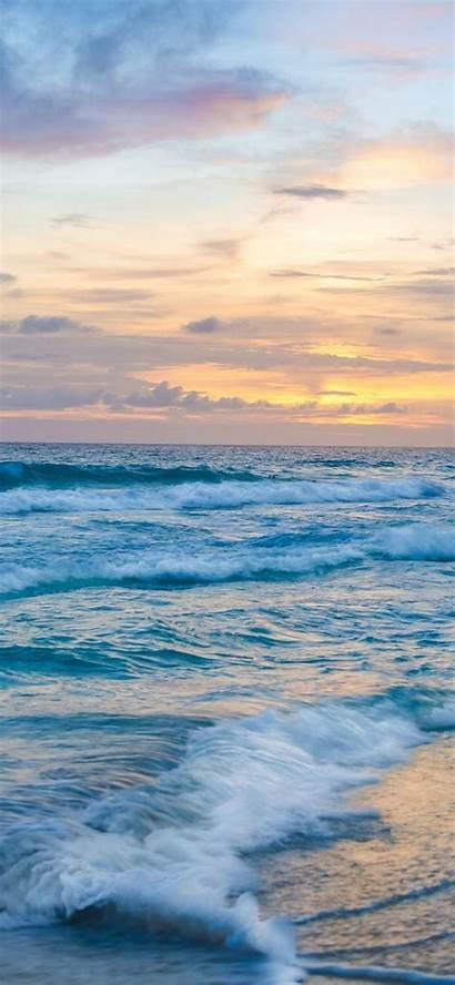 Ocean Waves Sunset Iphone Wallpapers 4k Xsiphone