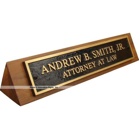 desk name plates desk nameplates for lawyers attorneys and pros