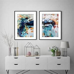 Large, Art, Print, Set, Of, Two, Framed, Wall, Art, By, Abstract, House