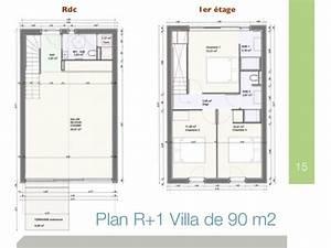 plan maison mitoyenne avec etage segu maison With amazing plan maison r 1 100m2 0 plan maison 100m2 r 1