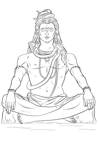 lord shiva coloring page  printable coloring pages