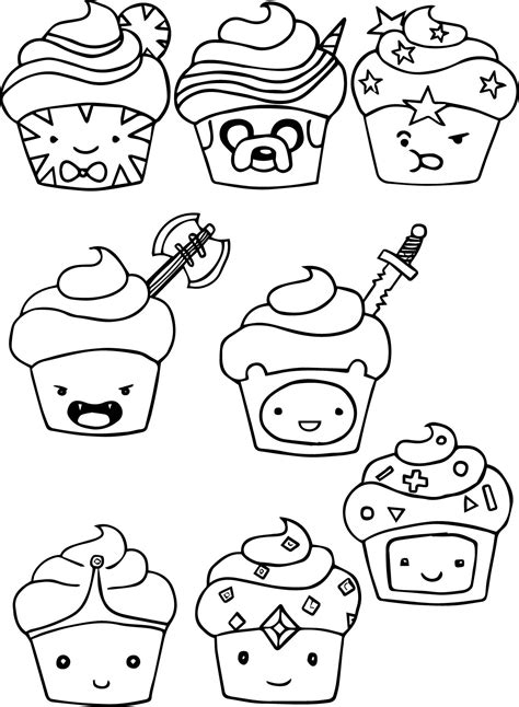 Coloring Time by Adventure Time Cupcake Coloring Pages Wecoloringpage
