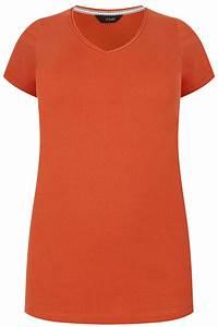 I Watch Kaufen : dunkeloranges basic t shirt mit v ausschnitt gro e gr en 44 64 ~ Eleganceandgraceweddings.com Haus und Dekorationen