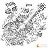 Coloring Adult Guitar Mandalas Note Dibujos Adults Printable Colouring Doodle Guitars Musicales Colorare Doodles Disegni Mandala Colorear Pumpkin Musica Imprimir sketch template