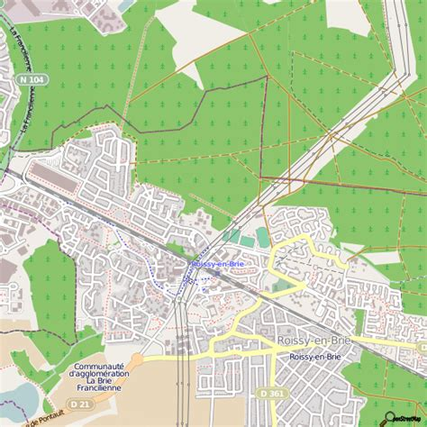 plan roissy en brie carte ville roissy en brie