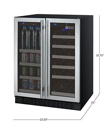 allavino vswb ssfn  door wine refrigeratorbeverage center ss doors  towel bar handles