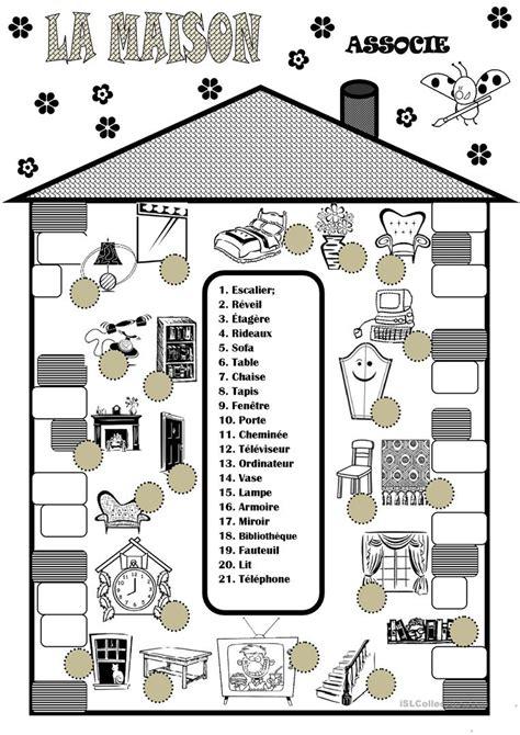 la maison fiche dexercices fiches pedagogiques