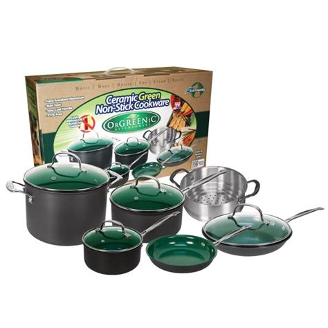 orgreenic cookware set  piece walmartcom walmartcom