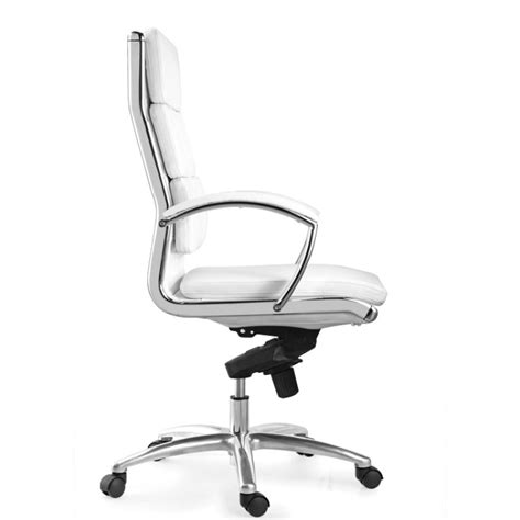 chiarezza livello high back executive leather chair white
