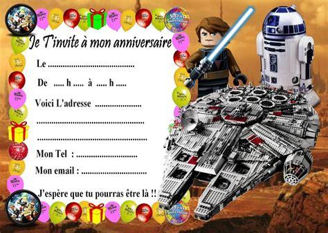 5 Cartes Invitation Anniversaire Lego Star Wars 03 D