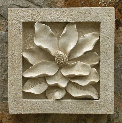 garden wall plaques magnolia wall tile garden wall plaques floral