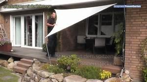 Segel Für Terrasse : ein sonnensegel von br gmann traumgarten auf der terrasse montieren youtube ~ Sanjose-hotels-ca.com Haus und Dekorationen