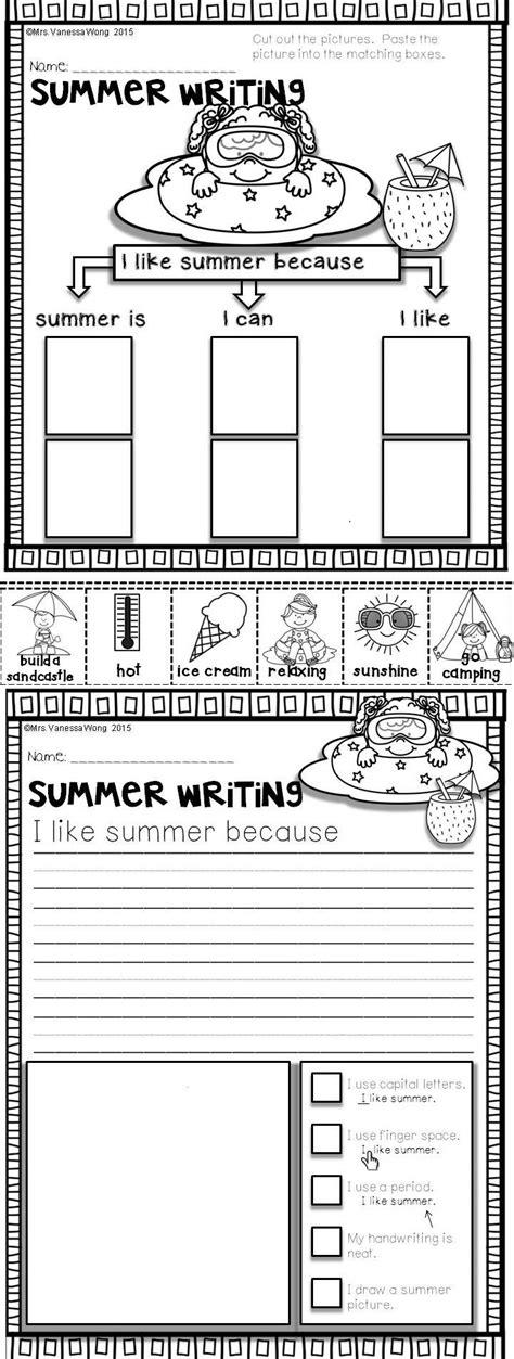 Summer Review  Literacy Pack (kindergarten)  Pinterest  Long Vowels, Literacy Activities And
