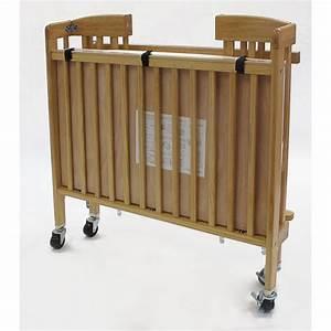 Lit pliant bebe limea hetre b4465 hotels collectivites chr for Deco chambre enfant avec matelas pliant lit bebe
