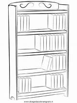 Bookshelf Coloring Pages Bible Bookcase Template Colouring Printable Audio Bookshelves Lightupyourbrain Stories Libreria Sheets sketch template