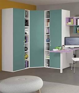 Armadio Ad Angolo 169x169 Cm Con Cabina E Librerie
