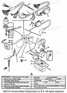 Yamaha Motorcycle 1974 Oem Parts Diagram For Electrical
