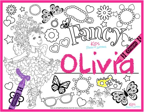 Fancy Nancy Coloring Pages Disney Best Image Of Coloring