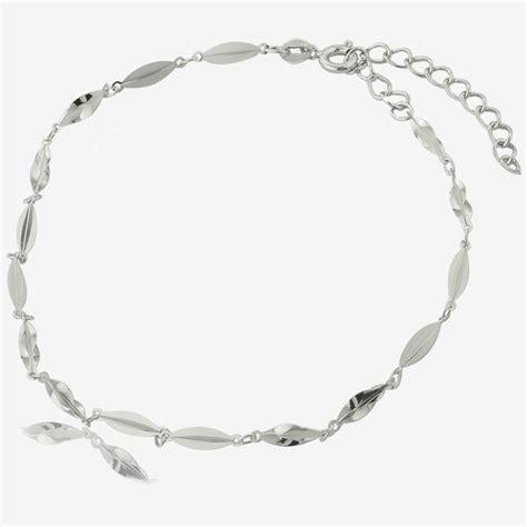 sterling silver princess link anklet