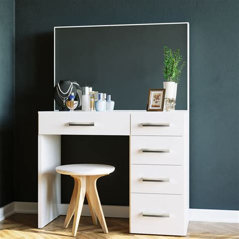 boahaus matilda modern vanity table with mirror and 5