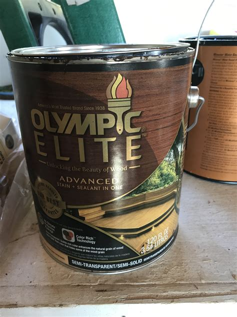 olympic elite wood stain review   deck stain