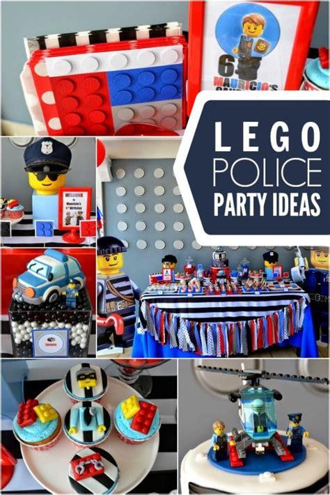 police themed boys lego birthday party spaceships