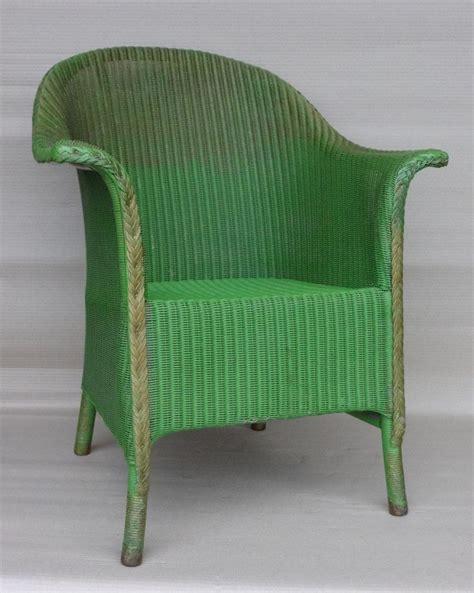 lloyd loom green chair outdoor furniture