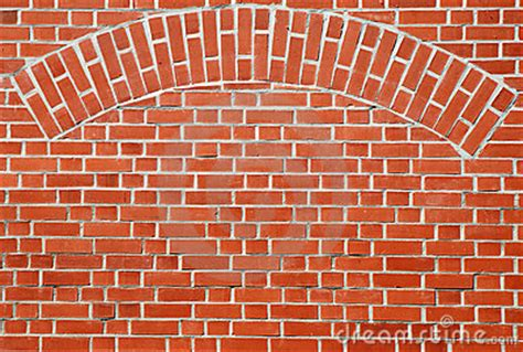 Red Brick Wall With Arch Royalty Free Stock Photos - Image
