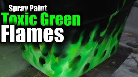 spray paint flames toxic realistic