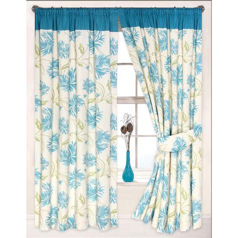 floral modern curtain heavy cotton canvas pencil pleat
