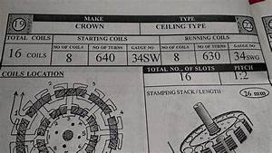 Ceiling Fan Winding Data For 16 Coil Pdf