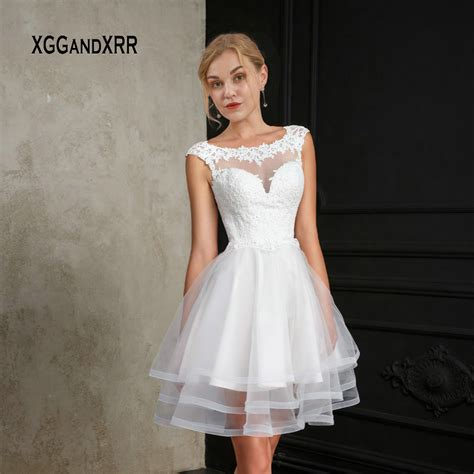 white short wedding dress  ball gown bride dress