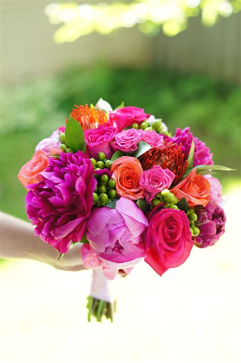 hot pink wedding flowers   dreams floral