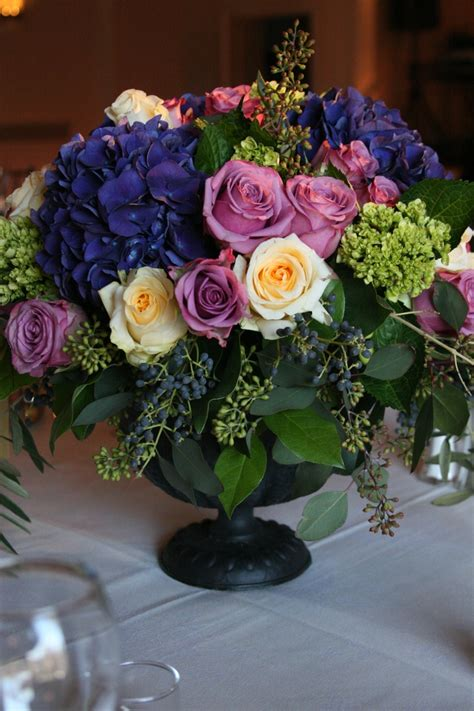 17 Best Ideas About Purple Hydrangea Centerpieces On
