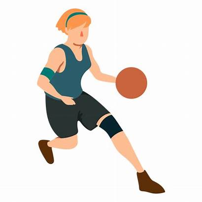 Basketball Running Player Ball Female Outfit Transparent