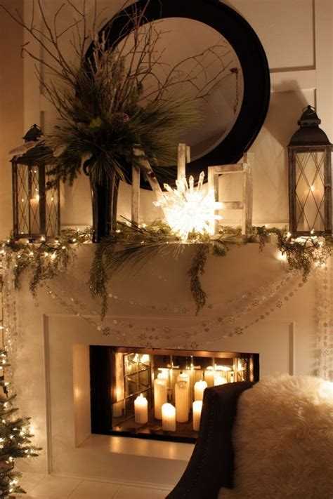 Decorating With Candles Fireplace by Fireplace Decorating Idea With Mirror 5 And Candles And