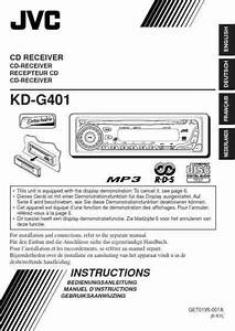 Jvc Kd-g401 Car Radio Download Manual For Free Now