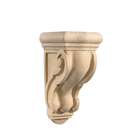 Www Corbel by Ornamental Mouldings Maple 5 1 2 In X 4 5 8 In X 9 13 16