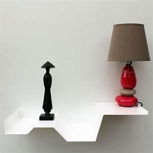 Table De Nuit Metal : chevet suspendu blanc m tal chevet mural design table de ~ Teatrodelosmanantiales.com Idées de Décoration