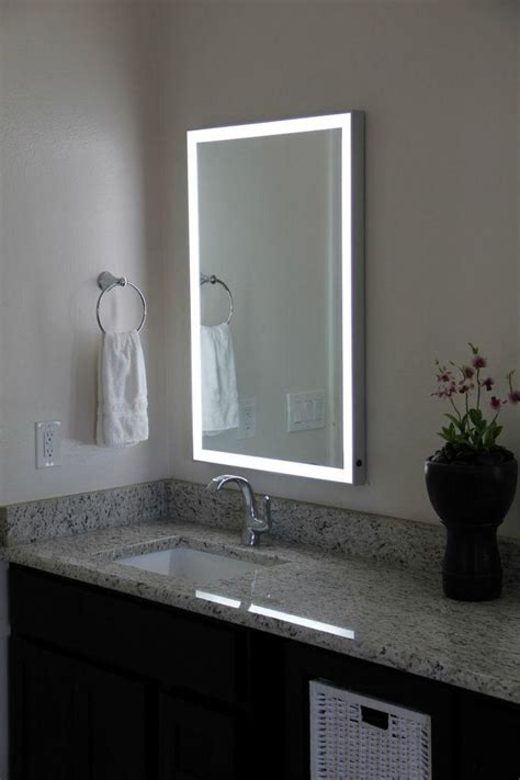 Light Mirror In Bathroom by 20 Photos Led Lights For Bathroom Mirrors Mirror Ideas