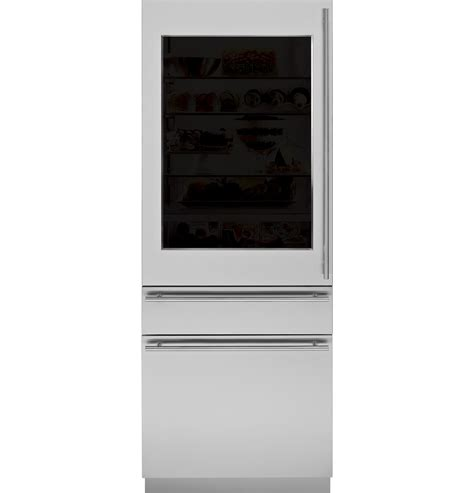 zikgnhii monogram  integrated glass door refrigerator  single  dual installation