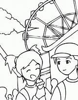 Coloring Park Amusement Pages Theme Clipart Printable Library Ninos Parque Colorear Diversiones Para El Coloringhome Clip Getcolorings Popular sketch template