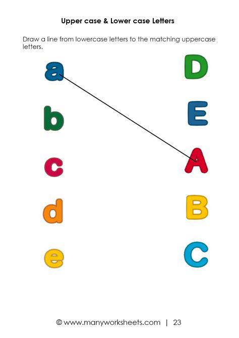 matching uppercase  lowercase worksheet