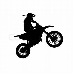 Silhouette of motorcycle | Stock Photo | Colourbox