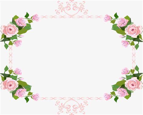 Pink Rose Border, Rose Clipart, Frame, Pattern Png