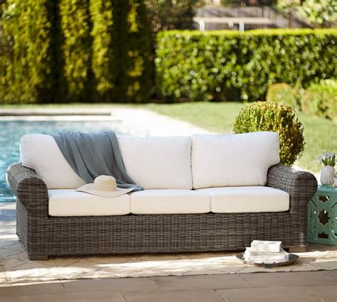 Huntington Allweather Wicker Rollarm Sofa  Pottery Barn. Used Patio Furniture Omaha. Outdoor Furniture Cushions Queensland. Stone In Backyard Patio. Sears Patio Furniture Gazebo. Ideas For Outdoor Patio Decorating. Lazy Boy Patio Furniture Parts. Garden Treasures Patio Swing Replacement Canopy. Palmetto Patio Furniture Pottery Barn