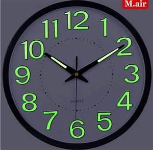 Grande Horloge Murale Design : led horloge murale grandes horloges murales d coratives ~ Nature-et-papiers.com Idées de Décoration