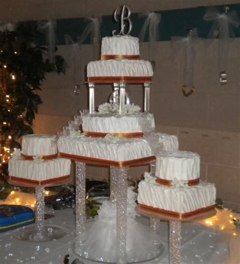 wedding cake  pillars  fountain cakecentralcom