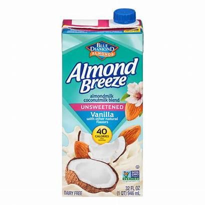 Almond Milk Breeze Refrigerated Coconut Vanilla Unsweetened